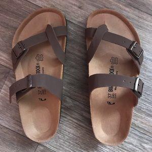 Birkenstock mocha sandals size 7-7.5